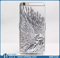 New Products Angel Wings PC Hard Protective Phone Case for iPhone 6 Plus