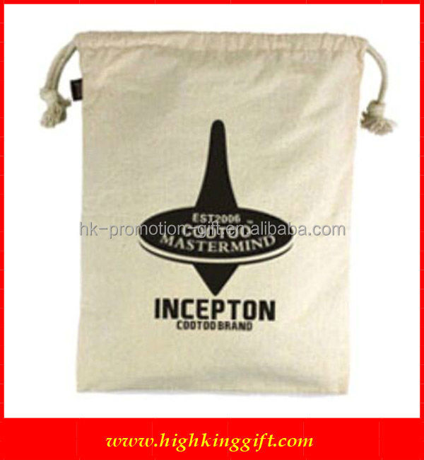 Promotional Cheap cotton drawstring Bag for promotional usage