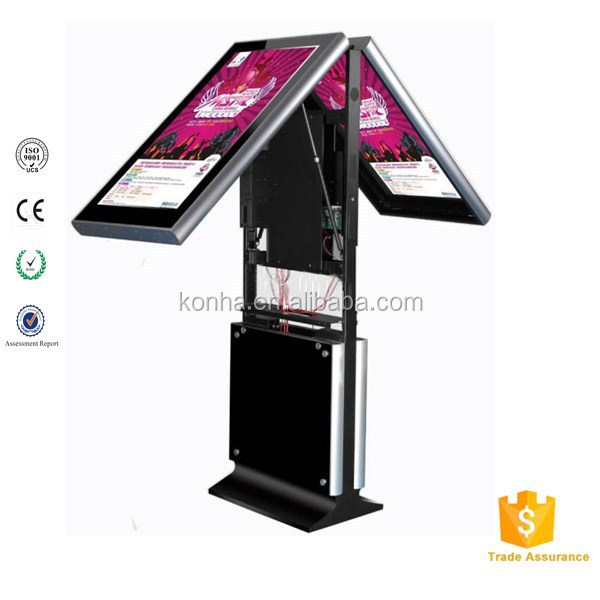 46 inch floor standing double sided lcd vertical advertising display monitor