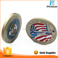 Factory Wholesale Commemorative Enamel Custom Metal Silver Coin