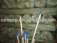wooden broom stick with colorful cap