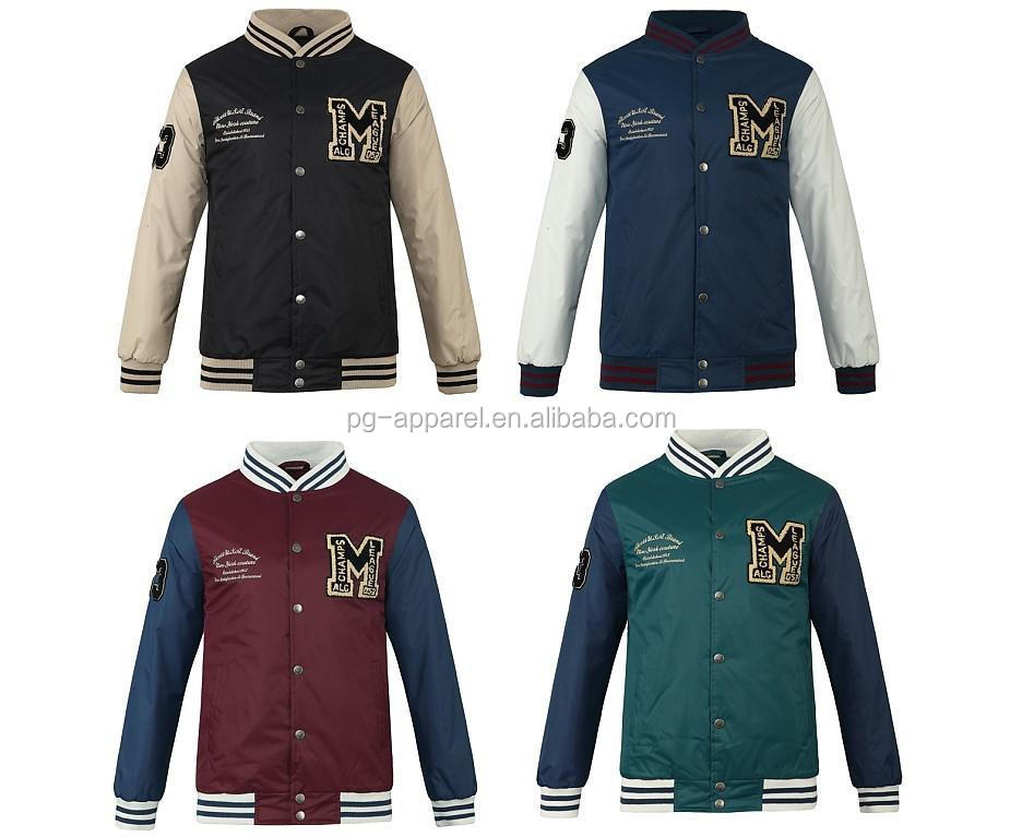 2015 Men Fashion Ready Made Varsity Jacket