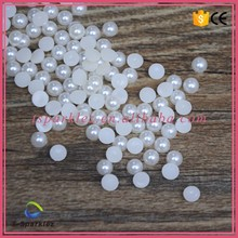 Cheap price 6mm half round flat back plastic pearl beads