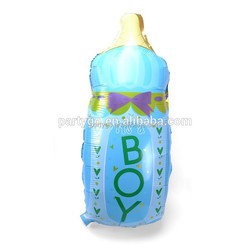 low price it's a boy bottle shape foil balloon for baby shower