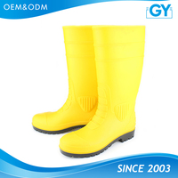 Factory best price good quality pvc steel toe safety boot