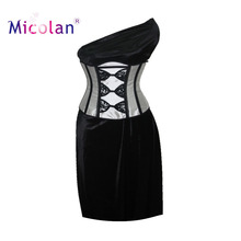 Sexy black/white lace up underbust corset bustiers brocade top dobby boned waist training Corset
