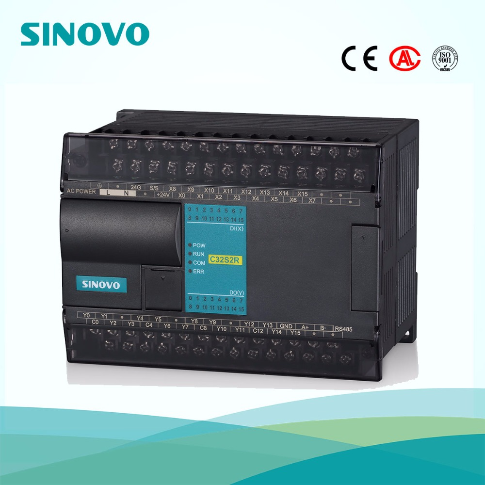 48 points DI/DO PLC controller with 24V DC 220V AC voltage supply