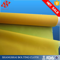 15-200T for Vacuum Infusion White&Yellow Plain Weave Polyester Monofilament Fabric Filter Mesh