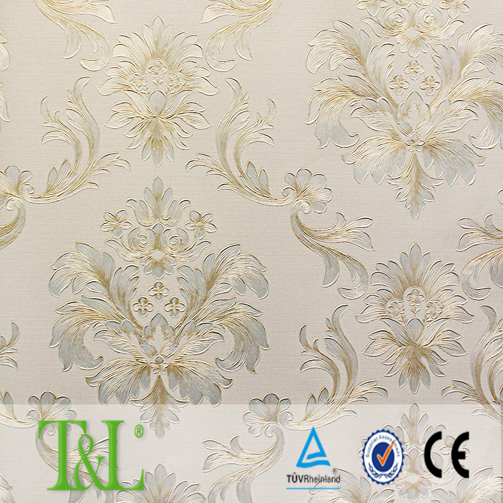New products 2016 original Korean designs wallpapers with heavy embossed