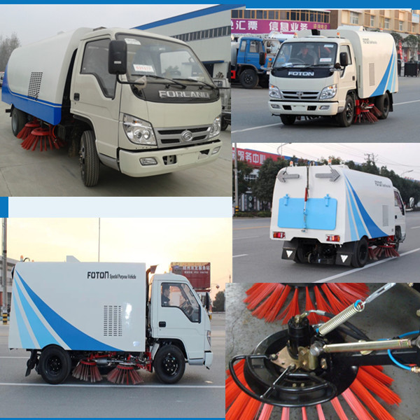 Famous Mini Road Sweeper Truck 3000 liters Off Road Truck 4x2 Suction Sweeping Vehicles