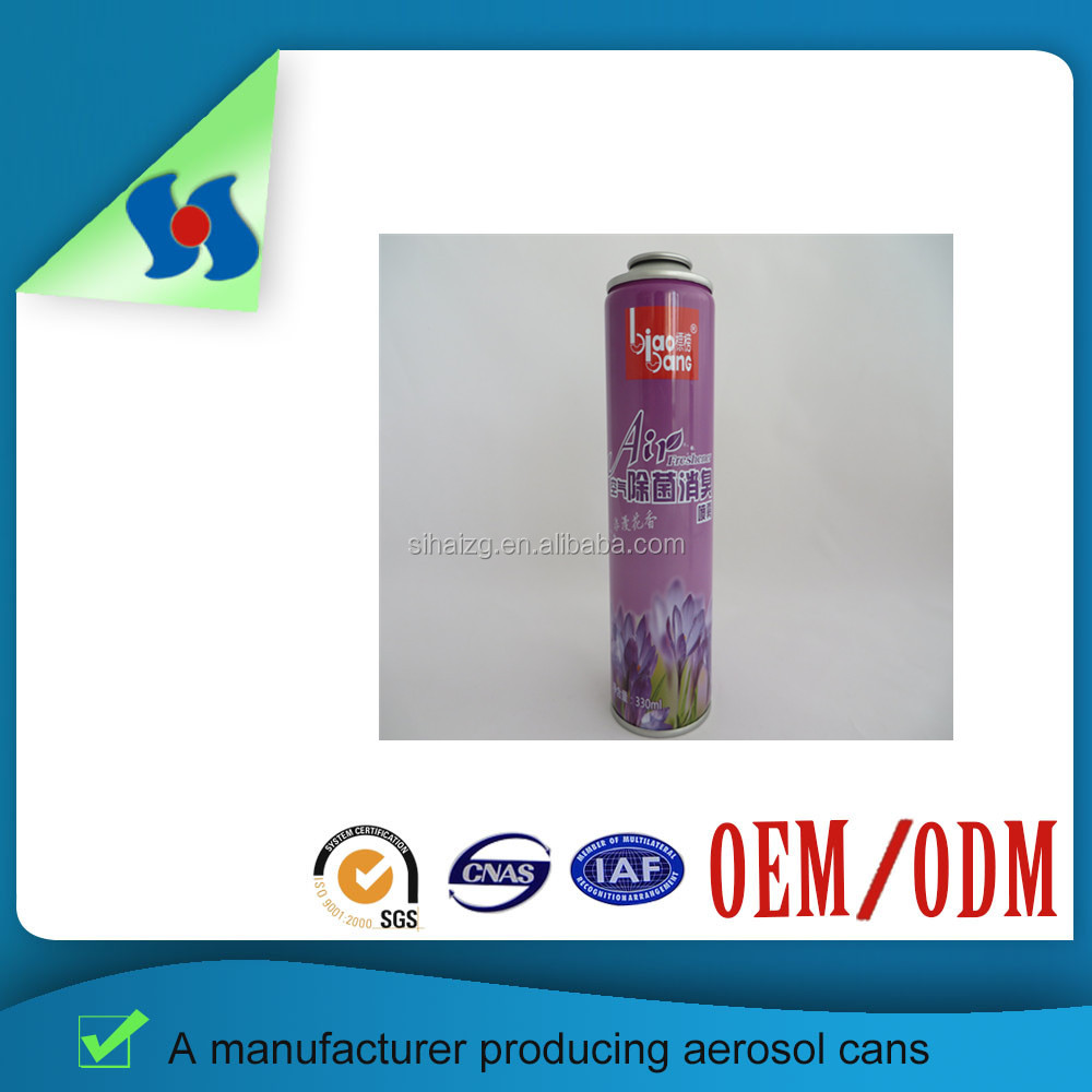 Room Air Freshener empty aerosol printing tin can 250ml