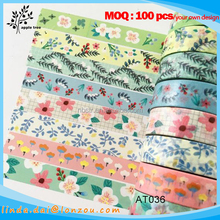 Japanese washi paper tape wholesale home floral decorative tape for walls
