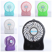Lileng839 3 inch super mini portable usb fan with rechargeable mini usb fan for outdoor working LED colorful rechargeable fan