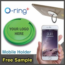 O-ring+ Unique Mobile Accessories Custom Logo Printing Phone Ring Stand for Business Customer