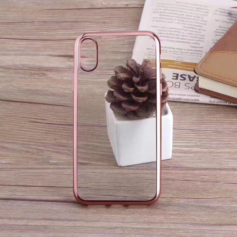 Hot selling products high quality electroplating soft tpu full case for iphone 8 cover