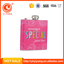BPA free chivas water transfer printing sex russia girls hip flask gift set