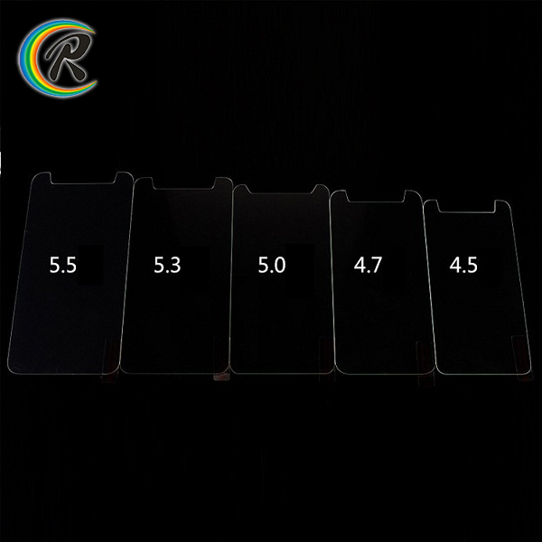 Ultra Slim Universal tempered glass screen protector sheet for mobile phone 4.0'' 4.5'' 4.7'' 5.0'' 5.3'' 5.5''inch