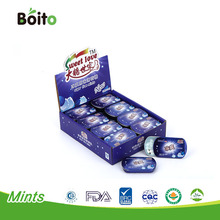 BRC,HACCP,QS certification sugar free super cool tablet mints in tin can