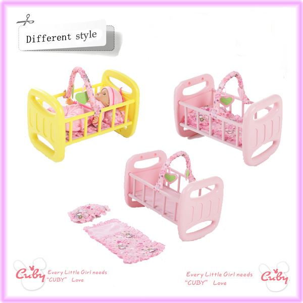 T224 Plastic Blow Furniture Doll Bed View Doll Bed Cuby