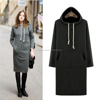 2015Walson china wholesale online shopping women long thick winter hoodies warm winter hoodie
