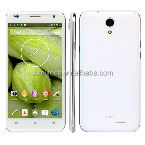 Original X-BO V8+ 5.5 Inch MTK6582 Ultra Thin Quad Core Dual SIM 3G GPS WIFI Smart Android 4.4 Mobile Phone Double Camera