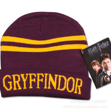 Costume Halloween Christmas Gift Slytherin hufflepuff Hat Harry Potter Stripes Knit Cap