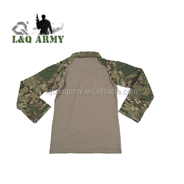 Tactical Military Combat Long and Short Sleeve Slim Fit Camo Shirt