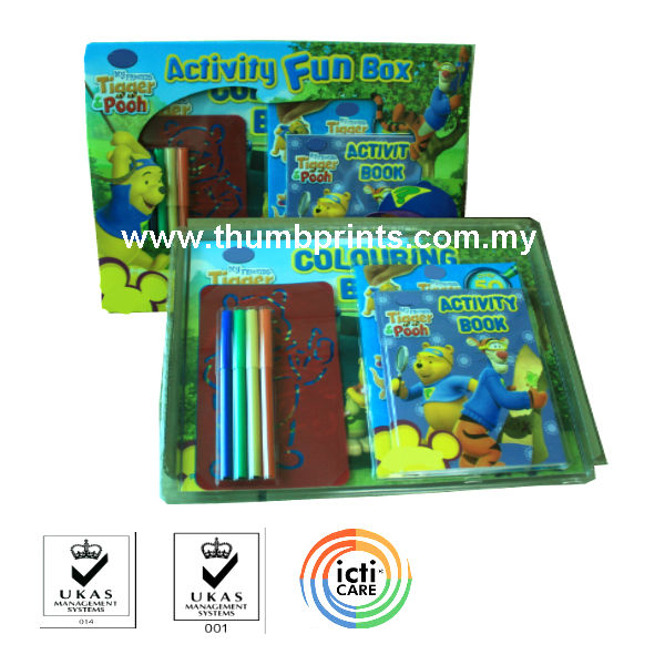 Children activity fun box with stationery