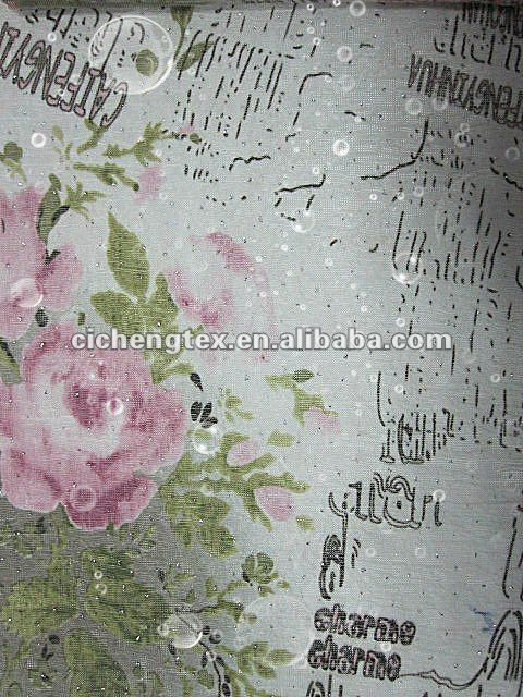 print polyester fabric with Diamond, print poly slub shirt fabric