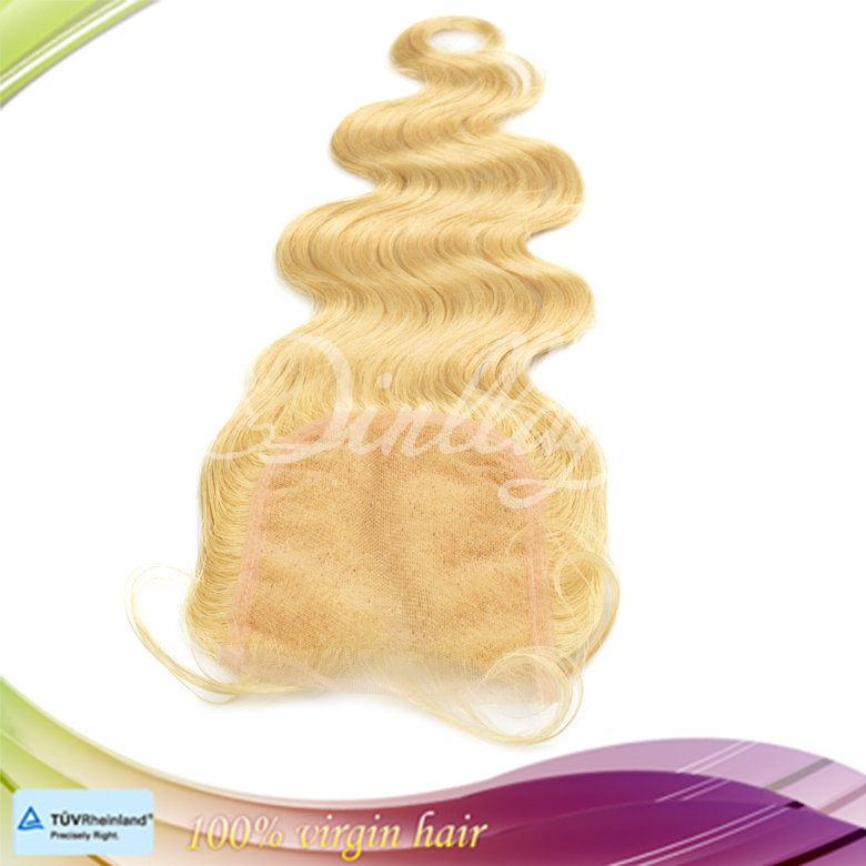 Free parting body wave wholesale blonde hair lace closure