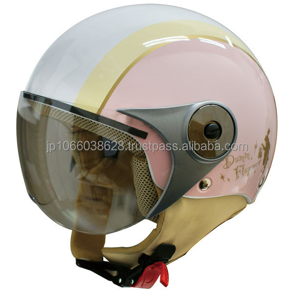 Japanese half type helmet for women with rabbit graphics