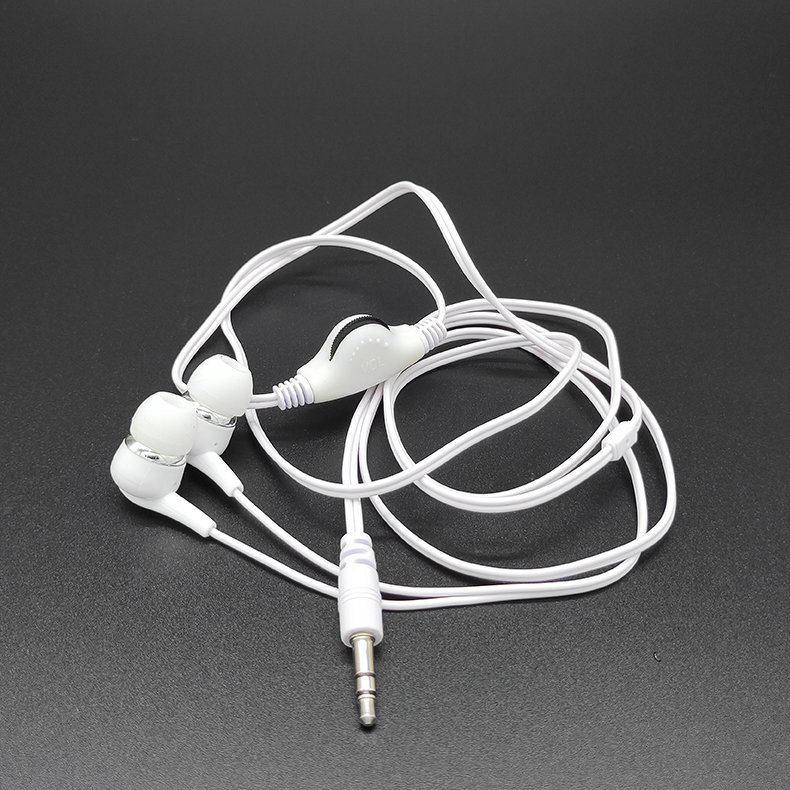 white With tuner without microphone headphone cable pvc Universal wired headset