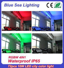 72pcs x 10w rgbw 4in1pro wash dmx ip65 outdoor christmas flood lighting