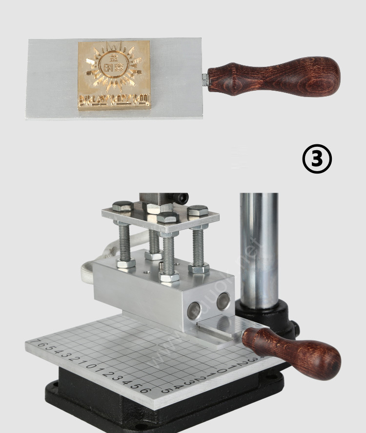 pvc card wood leather manual hot foil stamping machine for leather