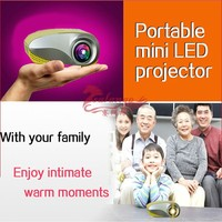 Newest 200lumens LED Electric Zoom Pico Micro Small Mini Data Show Projector With HDMI USB AV VGA TV Tuner Tripod