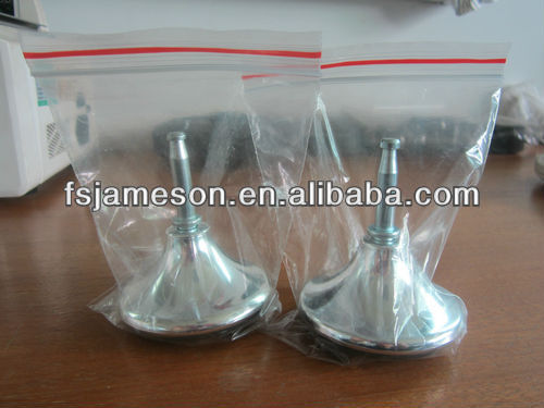 chrome silvery glider chair bed legs part carpet caster