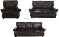 Living room furniture modern low back sectional sofa leather sofa