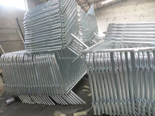 Steel Parking Lot barricade Fence/Portable Event Temporary Barrier fence / tubular road bar barrier/ site steel crowd barricade
