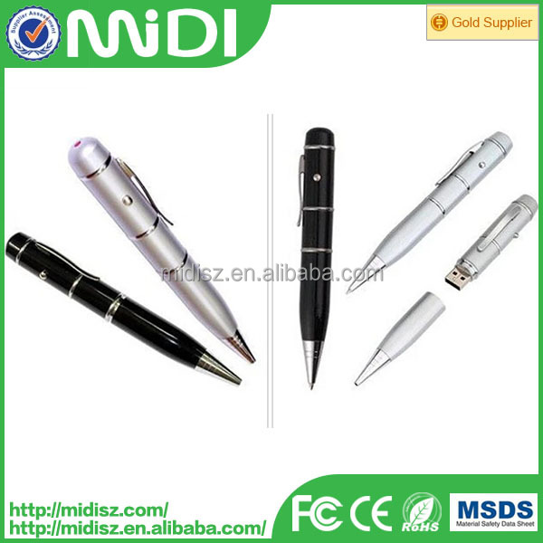 PEN design USB flash drive 3 in 1 pen drive with real capacity 16GB