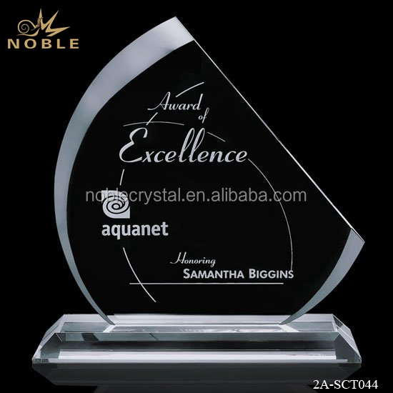 Custom Sandblasting Crystal Plaque Award