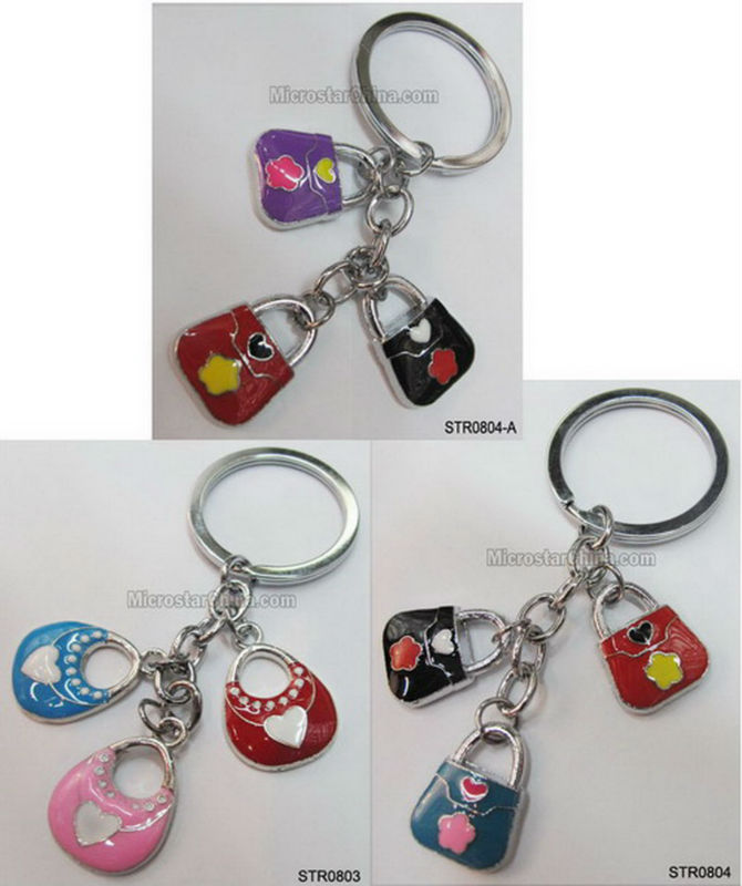 High quality enamel metal fancy handmade keychain