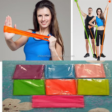 bright colors latex exercise resistance therabands for gymnastics