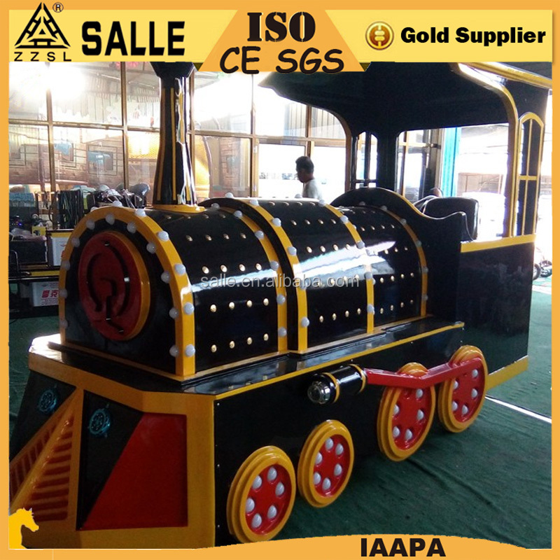 Amusement equipment park games mini tourist electric used trackless train for sale
