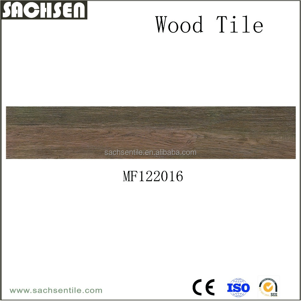 Indoor glazed ceramic parquet wood floor tiles 1000 mm * 200 mm
