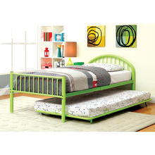 Hot Sale Metal Single Bed Trundle Bed with Metal Slats