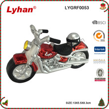 Lyhan handpainted motorcycle hanging ornament for 2017 Christmas tree decoration