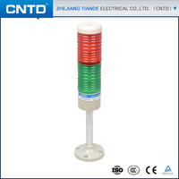 CNTD 50mm-70mm warning light red blue yellow green tower light steady flash revolving led signal lamp tower buzzer CPT5-2K-D