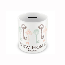 New Home Fund straight shaped ceramic customized Coin Bank