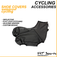 High quality durable professional 3 layers lamination fabrics custom waterproof cycling shoe covers