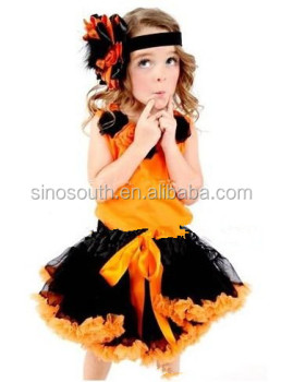 halloween girls costume pettiskirt set with tank top